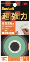 3M スコッチ 超強力両面テープ 透明素材用 19mm×1.5m