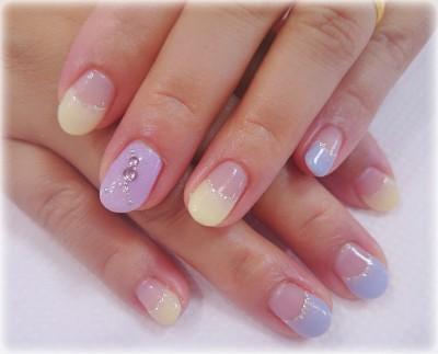 Cenbless 紫陽花カラー☆ジェルネイル