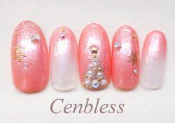 成増ネイルサロンCenbless <ハンド>ジェルネイル クリスマス雪の結晶
