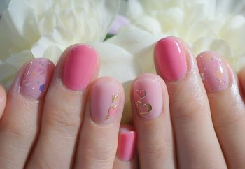 Cenbless 成増フェイシャル&ネイルサロン ガーリーピンク×ハートが可愛いバレンタインネイル