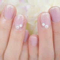 Cenbless 成増フェイシャル&ネイルサロン 落ち着いたピンクのフォーマルネイル