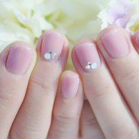 Cenbless 成増フェイシャル&ネイルサロン 上品な奥様によく似合うローズピンクのワンカラーネイル