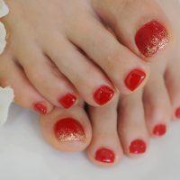 Cenbless 成増フェイシャル&ネイルサロン 夏の定番!情熱の赤!フットジェルネイル