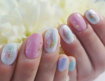 Cenbless 成増フェイシャル&ネイルサロン 紫陽花カラーの塗りかけ風アート
