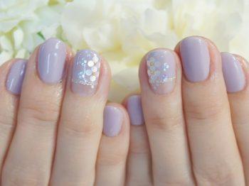 Cenbless 成増フェイシャル&ネイルサロン エレガントなラベンダーの逆フレンチ☆紫陽花ネイル