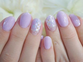 Cenbless 成増フェイシャル&ネイルサロン 職場にもOKな梅雨の上品紫陽花ネイル
