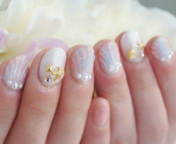 Cenbless 成増フェイシャル&ネイルサロン ブルーミンカラーマーメイド☆人魚の鱗ネイル