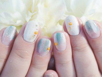 Cenbless 成増フェイシャル&ネイルサロン 塗りかけ風アート☆夏のエスニックネイル
