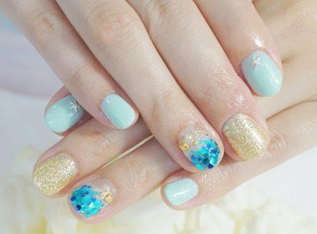 Cenbless 成増フェイシャル&ネイルサロン 海に行きたくなるリゾートデザイン☆夏のホログラデーションネイル