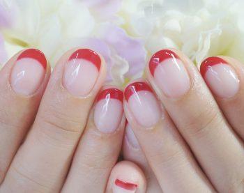 Cenbless 成増フェイシャル&ネイルサロン 真っ赤なフレンチネイル