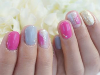 Cenbless 成増フェイシャル&ネイルサロン 大人ピンクが可愛い塗りかけ風アートネイル