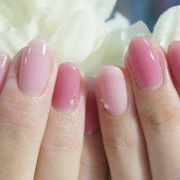 Cenbless 成増フェイシャル&ネイルサロン 女の子のママさん♪美爪に映える女性らしいシアーピンクのワンカラーネイル