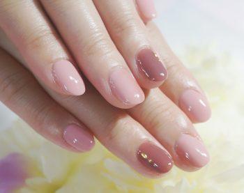 Cenbless 成増フェイシャル&ネイルサロン こっくり秋色ピンクネイル
