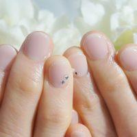 Cenbless 成増フェイシャル&ネイルサロン 花嫁の母☆上品清楚なシアーピンクのワンカラーネイル
