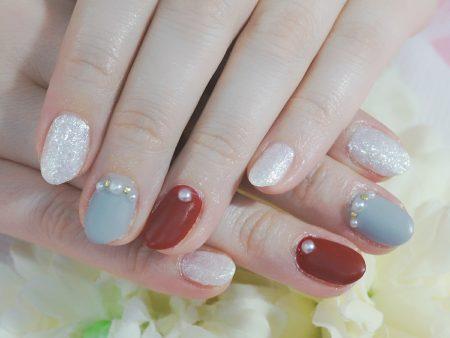 Cenbless 成増フェイシャル&ネイルサロン 冬色ほっこりマットジェルネイル