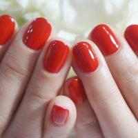 Cenbless 成増フェイシャル&ネイルサロン 一年の締めくくりに♪真っ赤なワンカラーネイル