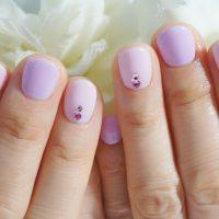 Cenbless 成増フェイシャル&ネイルサロン 可愛いショート爪さんのピンク×パープルネイル