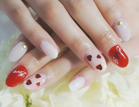 Cenbless 成増フェイシャル&ネイルサロン ハートがキュートなバレンタインネイル