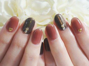 Cenbless 成増フェイシャル&ネイルサロン ビターなチョコレートカラー☆大人バレンタインネイル