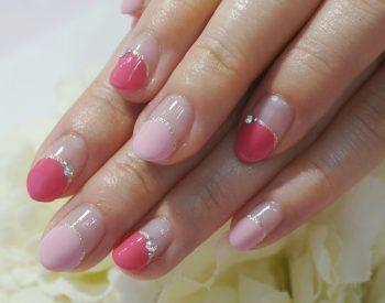 Cenbless 成増フェイシャル&ネイルサロン キュートなピンク系バルーンフレンチネイル