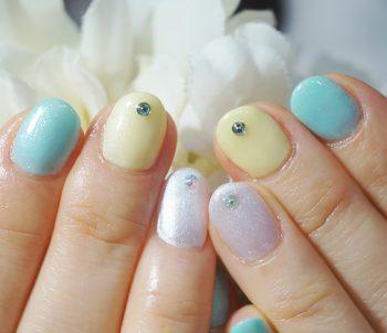 Cenbless 成増フェイシャル&ネイルサロン 爽やかな春夏カラー!イエロー×グリーンのワンカラーネイル