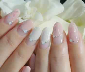 Cenbless 成増フェイシャル&ネイルサロン 上品ピンクのバルーンフレンチネイル