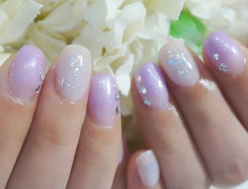 Cenbless 成増フェイシャル&ネイルサロン 梅雨の紫陽花カラーオーロラネイル