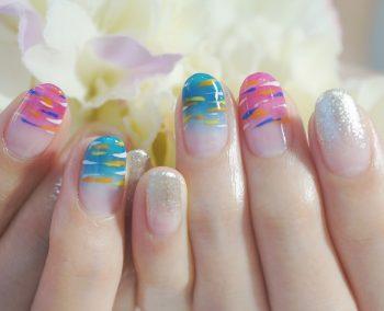 Cenbless 成増フェイシャル&ネイルサロン 浴衣で行く花火大会に♪水風船(ヨーヨー)と金魚が可愛いお祭りネイル