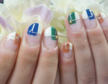 Cenbless 成増フェイシャル&ネイルサロン 秋色ブロックネイル