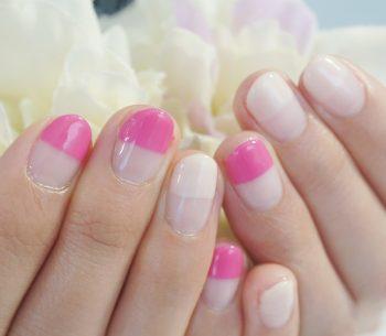 Cenbless 成増フェイシャル&ネイルサロン 女子力UP!大人ピンクのストレートフレンチネイル♪