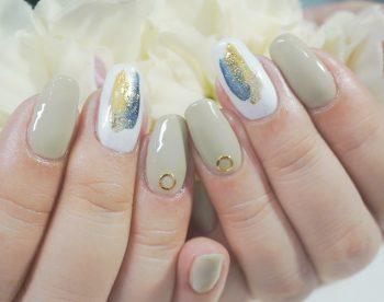 Cenbless 成増フェイシャル&ネイルサロン 秋冬にオススメのスモーキーカラー配色で塗りかけ風ネイル
