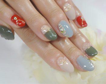 Cenbless 成増フェイシャル&ネイルサロン 大人カラーでアクセサリー感覚のクリスマスネイル