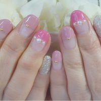 Cenbless 成増フェイシャル&ネイルサロン 優しい気持ちになれるピンクのバレンタインネイル