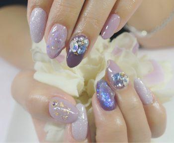 Cenbless 成増フェイシャル&ネイルサロン 新年幕開けネイル☆今話題の宝石カットネイル&3Dビジューで和装にもマッチする上品ゴージャスネイル