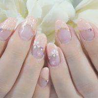 Cenbless 成増フェイシャル&ネイルサロン 小花が可愛い清楚な和フラワーネイル