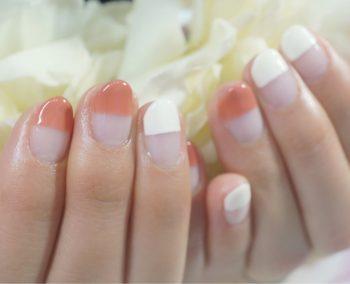 Cenbless 成増フェイシャル&ネイルサロン バレンタインカラ―でストレートフレンチネイル