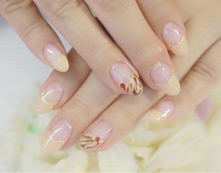 Cenbless 成増フェイシャル&ネイルサロン バレンタイン!チョコレートソースフレンチネイル