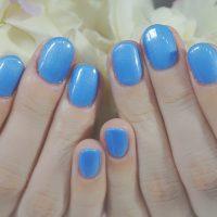 Cenbless 成増フェイシャル&ネイルサロン 久々のジェルネイルは大好きなブルーのワンカラーで