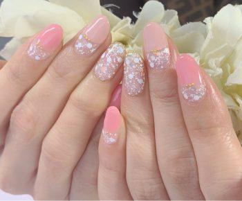 Cenbless 成増フェイシャル&ネイルサロン フォーマルシーンにもOK!春のピンク系デザインネイル