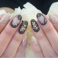 Cenbless 成増フェイシャル&ネイルサロン チョコレート色のバレンタインネイル