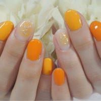 Cenbless 成増フェイシャル&ネイルサロン 爽やかフルーツ配色!オレンジカラー×チークネイル