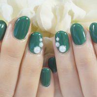 Cenbless 成増フェイシャル&ネイルサロン アパレルOLさんのネイルはおしゃれなグリーン!