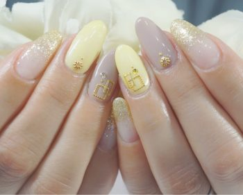 Cenbless 成増フェイシャル&ネイルサロン 女社長様の初夏ネイル☆イエローとグレージュの大人配色!