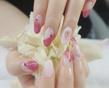 Cenbless 成増フェイシャル&ネイルサロン オーロラの輝き★ピンク系変形フレンチネイル