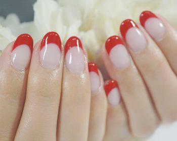 Cenbless 成増フェイシャル&ネイルサロン シンプル赤フレンチネイル