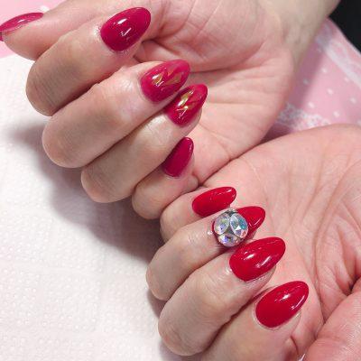 Cenbless 成増フェイシャル&ネイルサロン マイネイル★真っ赤なワンカラーネイル