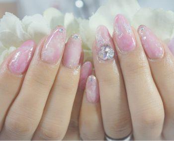 Cenbless 成増フェイシャル&ネイルサロン 女社長様の癒しネイル★ピンク系ニュアンスアート