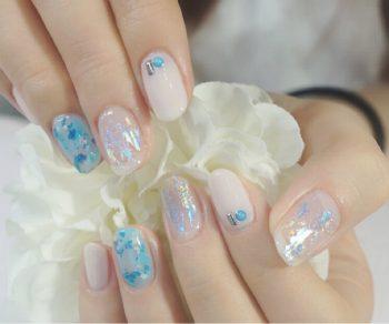 Cenbless 成増フェイシャル&ネイルサロン 夏の爽やかターコイズカラー!ホイルアートネイル