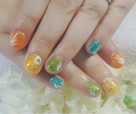 Cenbless 成増フェイシャル&ネイルサロン ポップなキャンディー配色!シースルーネイル