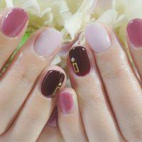 Cenbless 成増フェイシャル&ネイルサロン 女性らしいカラーを組み合わせて♪冬のワンカラーネイル